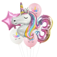 Unicorn Birthday Balloon Pack