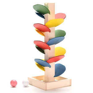 Colorful Building Blocks Tree Marble Ball Run Track Toys