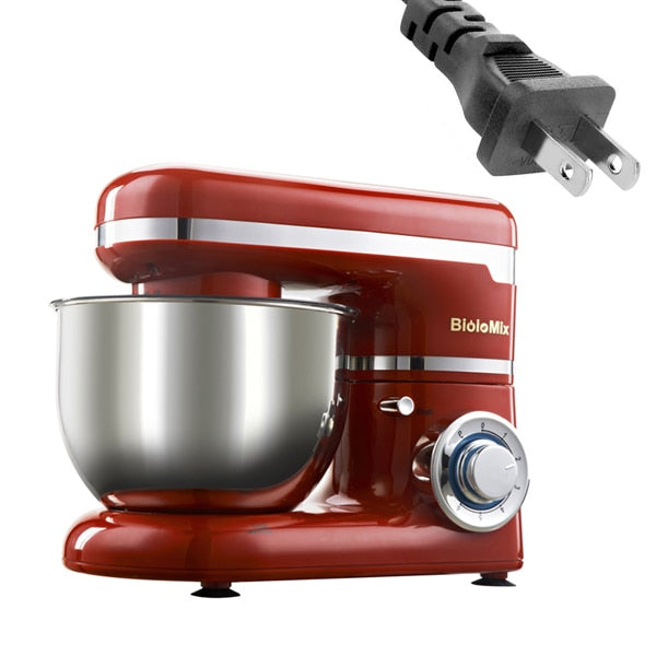 Red Stand Stainless Steel Dough Kneader
