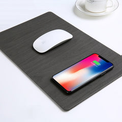 Wood Grain Wireless Charger Mousepad