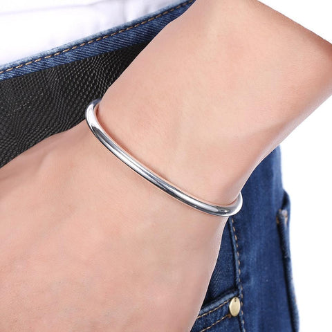 Bevellier Bracelets Classic Bangle in 18K White Gold Plated
