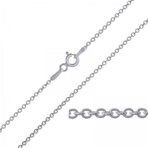 "Bevellier Necklaces Silver 18"" Cable Chain"