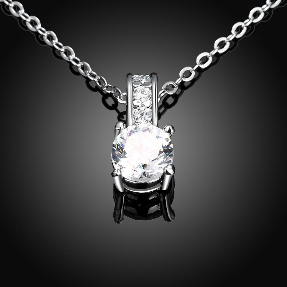 c919c62236e Bevellier Necklaces Swarovski Crystal 18K White Gold Plated Diamond Simulated  Necklace + Free Stud