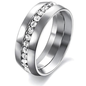 Bevellier Rings 4 Eternity Crystal Love Ring
