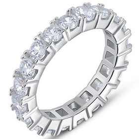Bevellier Rings 6 Luxury Crystal Eternity Ring