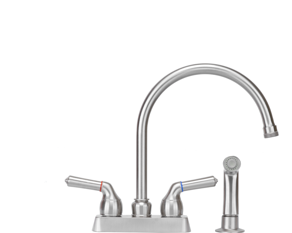 Stainless High Arch Faucet with Sprayer