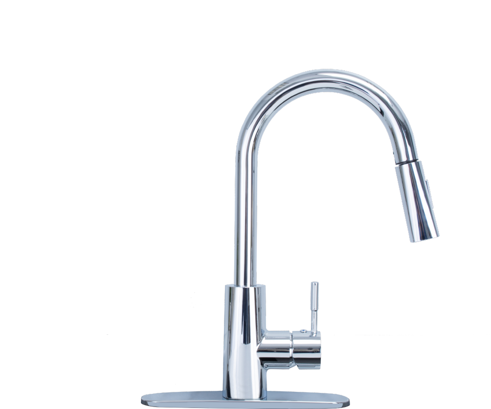 Chrome Pull Down Faucet