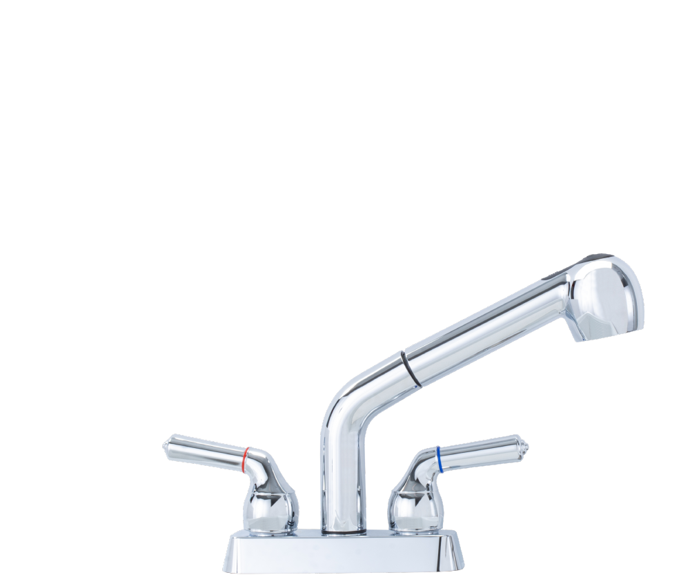 chrome pull out faucet
