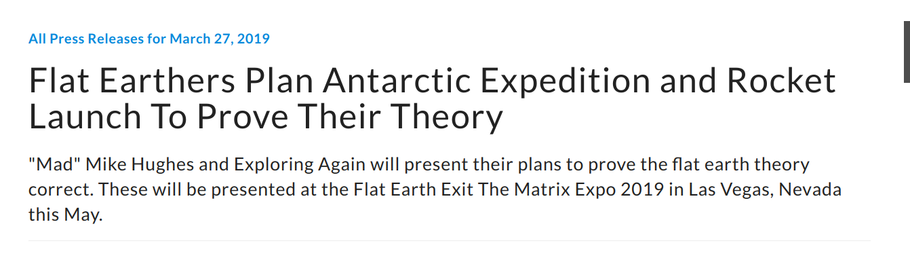 Flat Earthers Plan Antarctic Expedition and Rocket Launch To Prove Their Theory