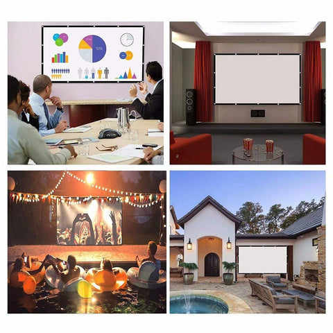 Outdoor/Indoor Screen Projection (Portable & Foldable, HD Quality)