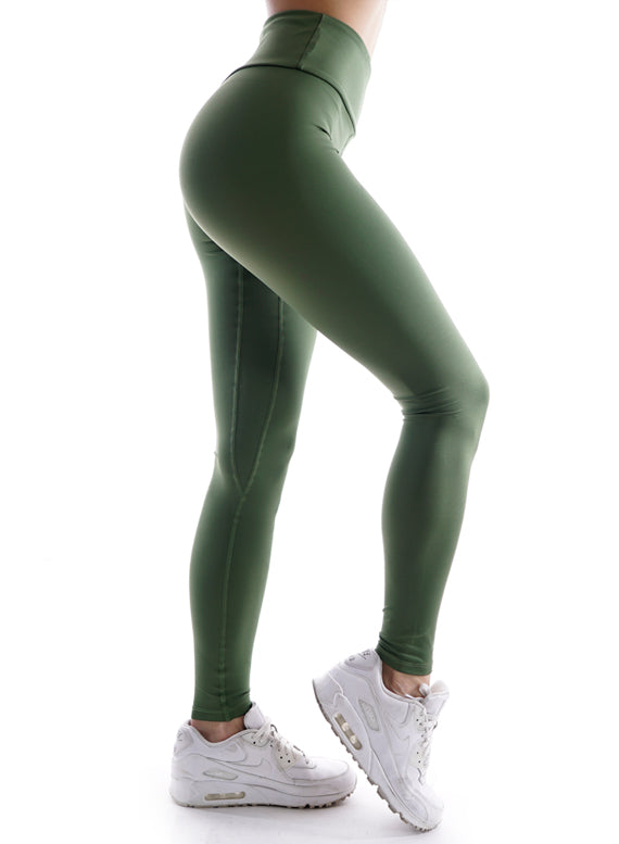 Athletic Power Olive Fitness Leggings