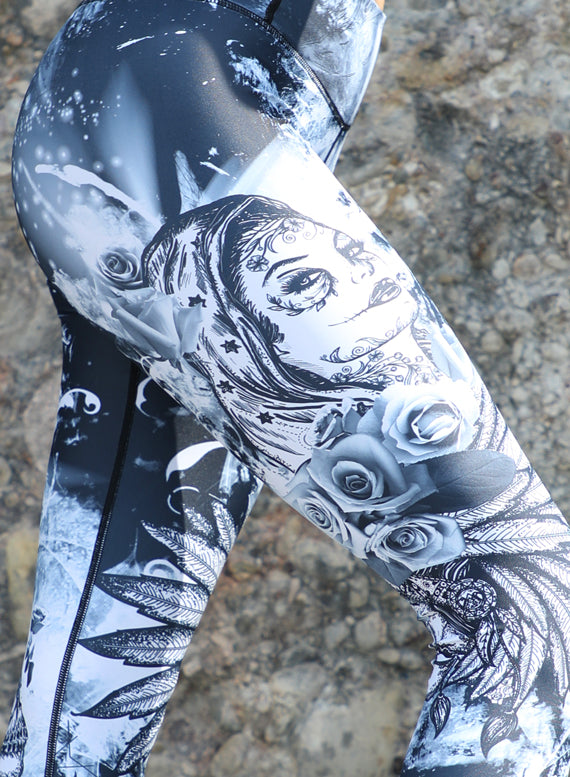 Black Muerte Leggings