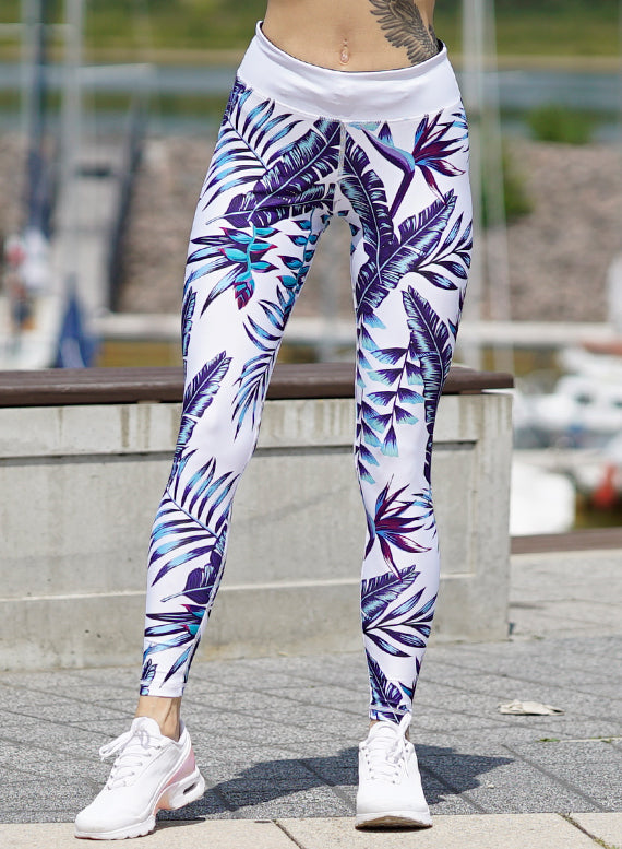 Blue Paradise Fitness Leggings