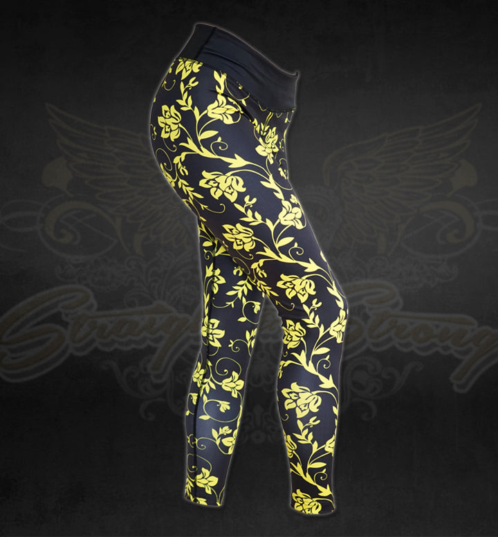Flower Power Fitness Leggings