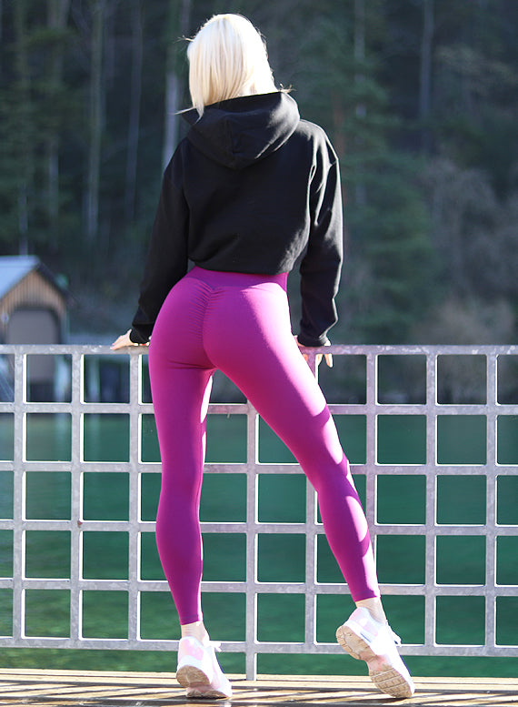 Hybrid purple Leggings by Harmony Fit