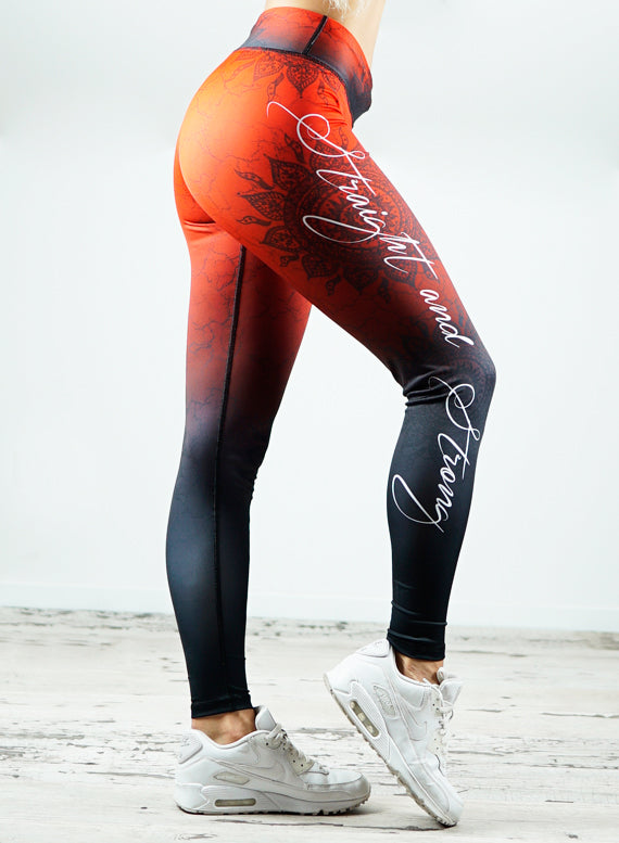 Mandala RED Fitness Leggings