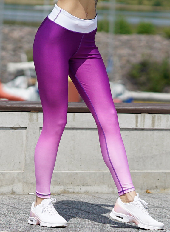 Purple Ombre Fitness Leggings