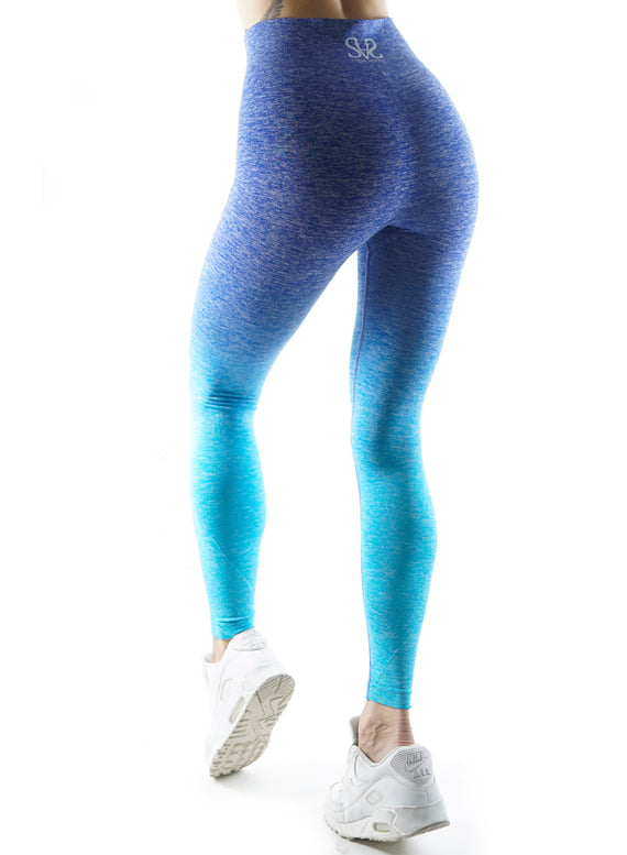 Seamless Ombre blue Fitness Leggings