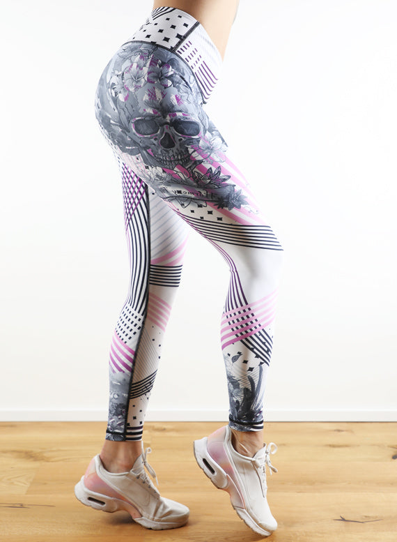 Twisted Skull Leggings by Harmony Fit
