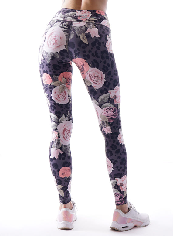 Wildroses Fitness Leggings by Harmony Fit