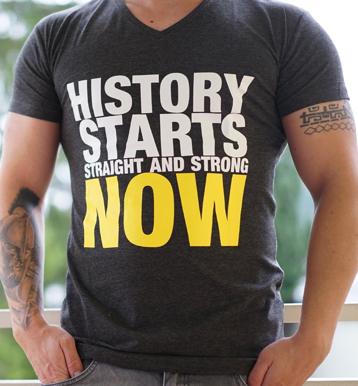 Men T-Shirt History Starts Now dunkelgrau