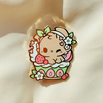 Matcha Strawberry Parfait Pin