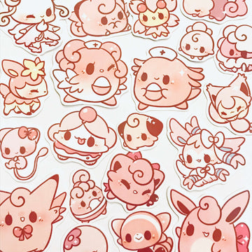 Pink Pokemon Stickers