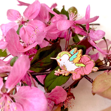 Spring Hummingbird Pin
