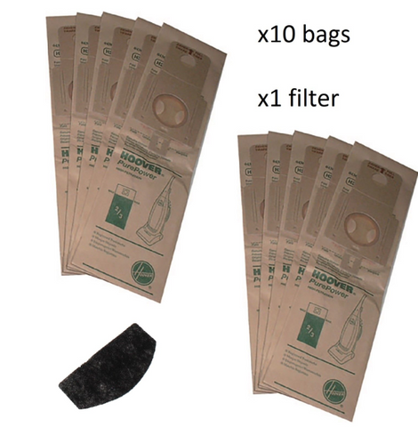 10-x-genuine-hoover-h20-purepower-upright-vacuum-dust-paper-bags-filter