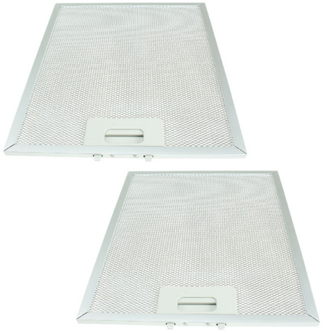2-x-lamona-metal-cooker-hood-mesh-aluminium-grease-filters-320mm-x-260mm