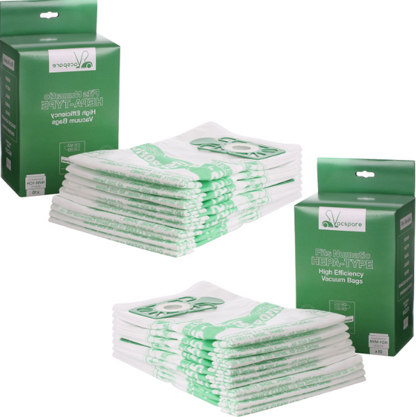 20 x NVM-1CH Dust Bags for Numatic NVQ370T NVR200 RSV130 Vacuum Cleaner