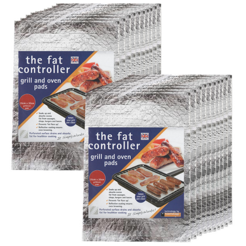 20-x-the-fat-controller-grill-pan-oven-protective-grease-absorbant-tray-pads