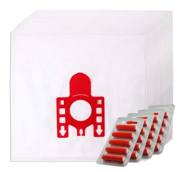 10x MIELE Vacuum Cleaner Bags FJM Red