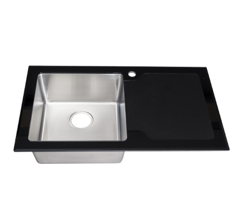 modern-stainless-steel-single-bowl-kitchen-sink-8mm-black-glass-surround-drainer