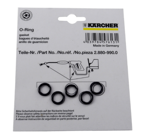 Karcher 2.880-990.0 Pack of 5 Replacement O-Rings
