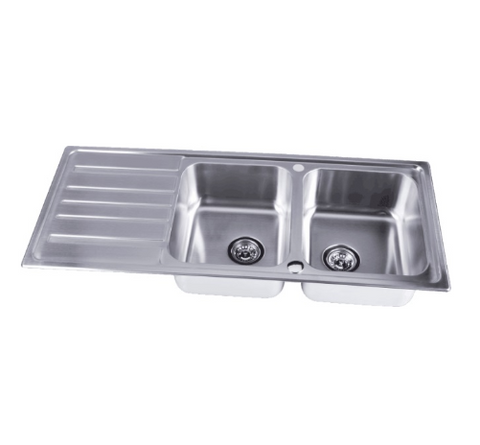 stainless-steel-2-bowl-double-kitchen-sink-inset-reversible-drainer-free-waste