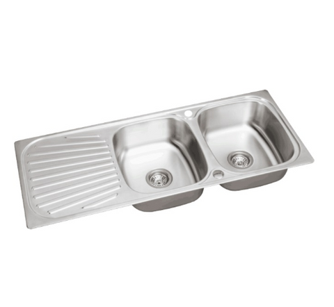 stainless-steel-2-bowl-double-kitchen-sink-reversible-drainer-inset-free-waste