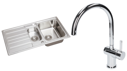 stainless-steel-kitchen-sink-1-5-bowl-reversible-drainer-waste-kitchen-tap