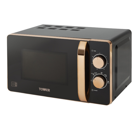tower-t24020-20l-manual-solo-microwave-800w-black-rose-gold-micro-oven