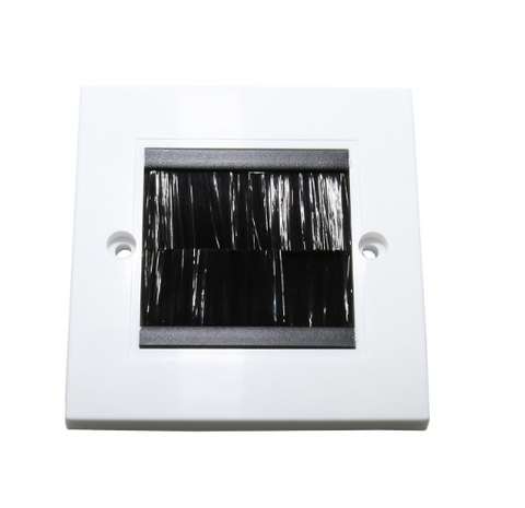 white-brush-single-gang-plug-socket-cable-mount-outlet-wall-plate-wallplate