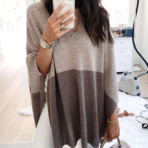 A Stylish Loose Shawl Sweater