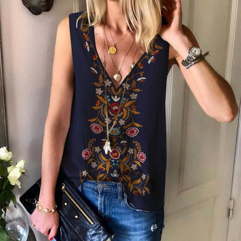 Casual Inwrought Sleeveless V Neck Vest