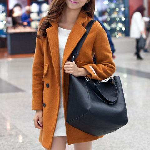 Autumn And Winter New Fashion Retro Ladies Bucket Handbag