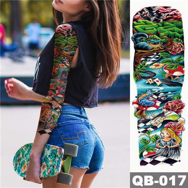 BUY MORE CHEAPER-Colorful Full Arm sleeve Tattoo Waterproof temporary tattoo Sticker