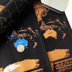 Deluxe & Large Scratch-Off™ Travel Map