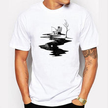 Load image into Gallery viewer, The Astronaut Fishing Men T-shirt