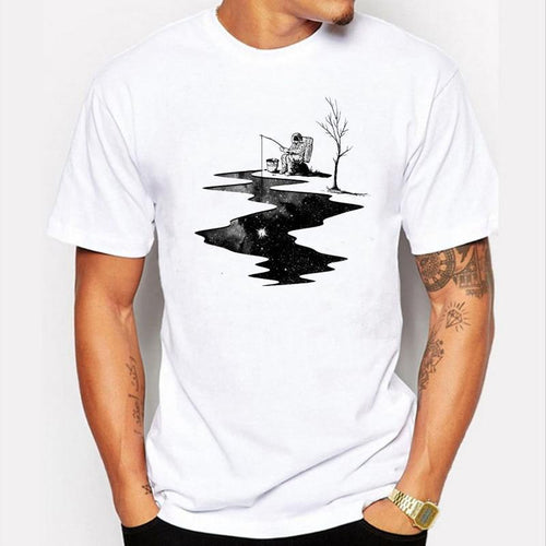 The Astronaut Fishing Men T-shirt