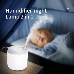 Air Humidifier & Diffuser with LED Night Lamp