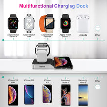 Load image into Gallery viewer, Premium 10W Qi Wireless Charging Station iPhone Airpods Apple Watch
