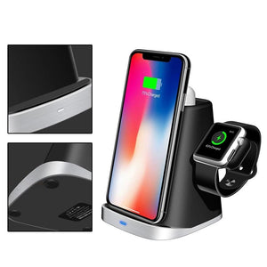 Wireless Charging Station For Qi Devices Apple Watch Airpods Fast Charging
